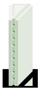 Плита гипсовая пазогребневая гидрофобизированная (пустотелая) (ПлГг(пуст.))